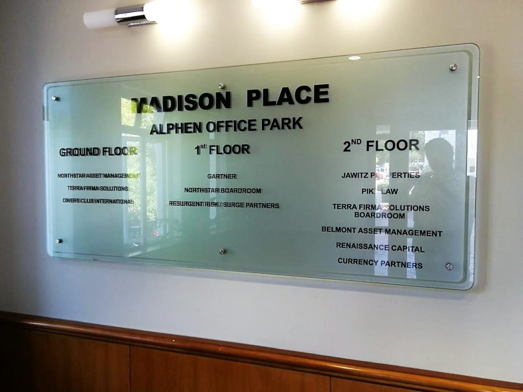 Main Foyer Signage